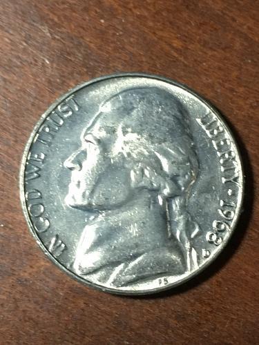 1968 D Jefferson Nickel Item 0219434