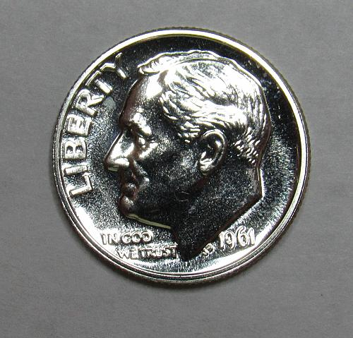 1961 P Proof Roosevelt Dime