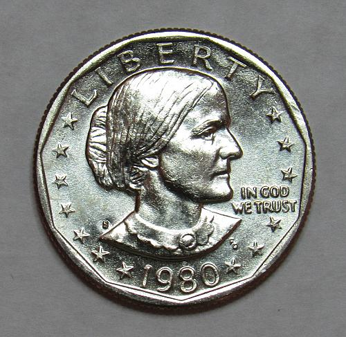 1980 S Susan B Anthony Dollar in BU condition
