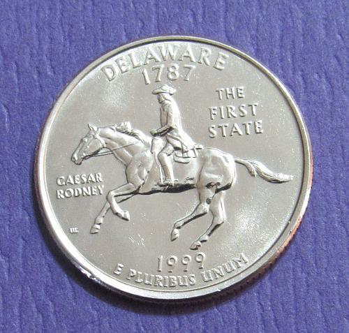 1999-D 25 Cents - Delaware State Quarter