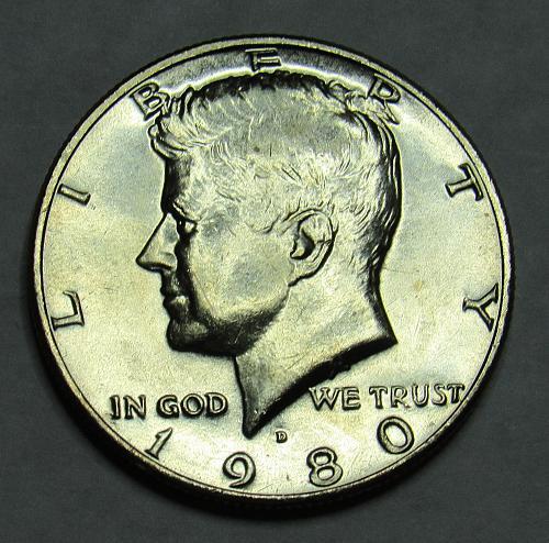 1980 D Kennedy Half Dollar in BU condition