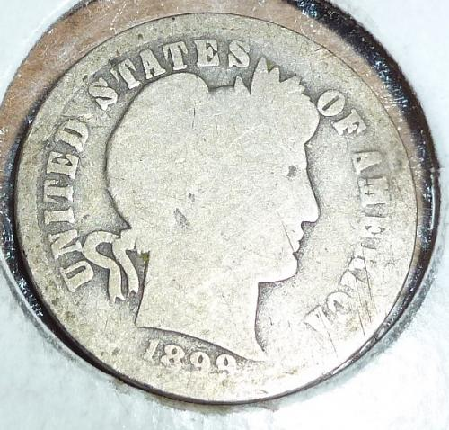 1899-O Grades FULL Good Barber Dime (655)