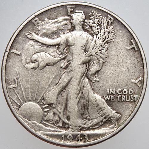 1943 P Walking Liberty Half Dollar #9