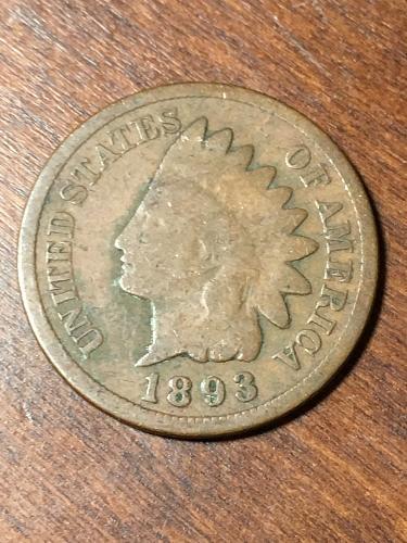 1893 Indian Head Cent Item 0219475