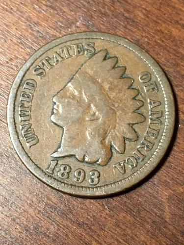 1893 Indian Head Cent Item 0219476
