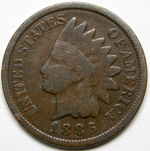 1886 Indian Head Cent #23 Type 2