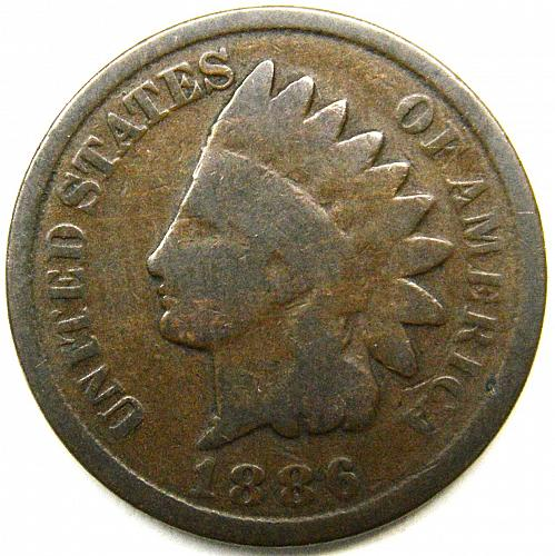 1886 Indian Head Cent #11 Type 2