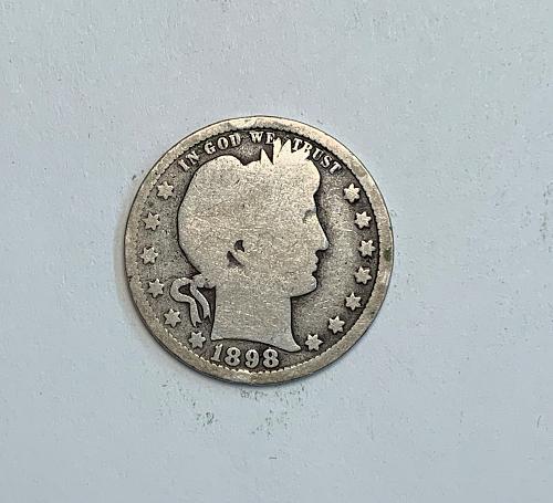 1898 Barber Quarter  [BSWQ6]