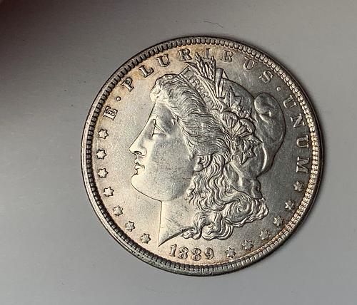 1889 Morgan Silver Dollar MS60 [MDL27]