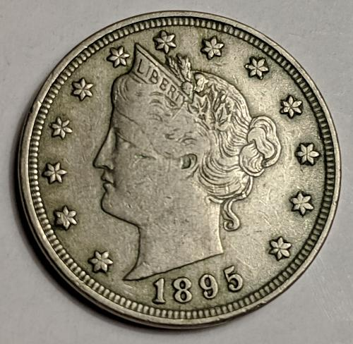 1895 VERY FINE LIBERTY NICKEL