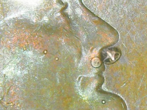 1968 D Double die reverse circulated uncertified memorial cent (00024)