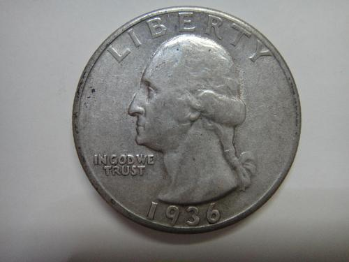 1936 Washington Quarter Almost Uncirculted-50