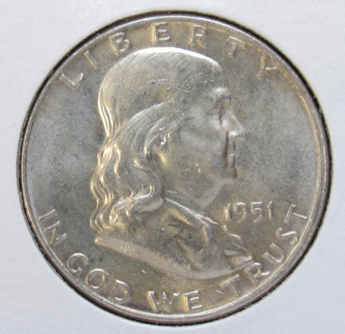 1951 D Franklin Half Dollar
