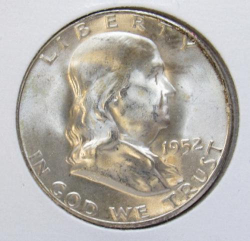 1952 S Franklin Half Dollar Proof Coin