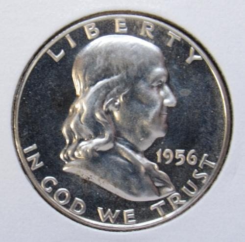1956 P Franklin Half Dollar Proof Coin
