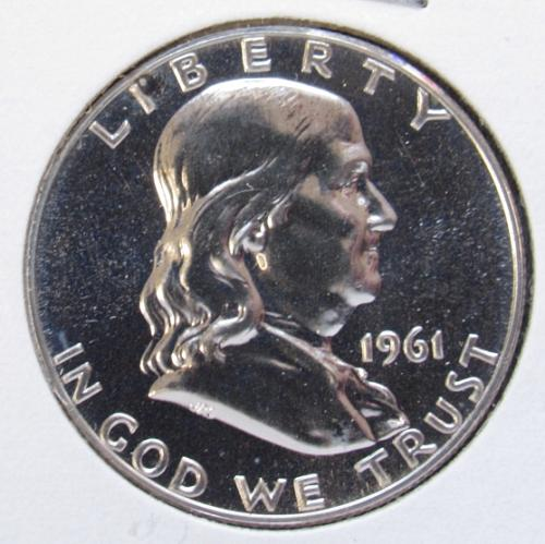 1961 P Franklin Half Dollar Proof Coin