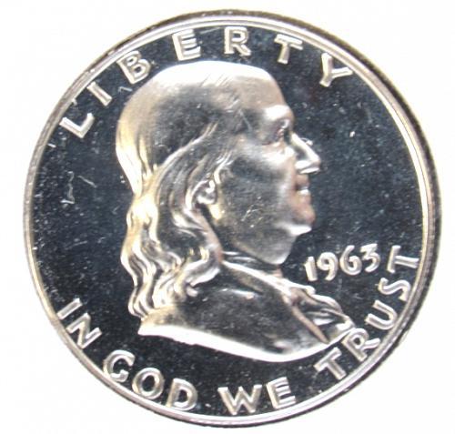 1963 P Franklin Half Dollar Proof Coin