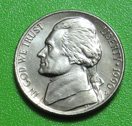 1990-D 5 Cents - Jefferson Nickel