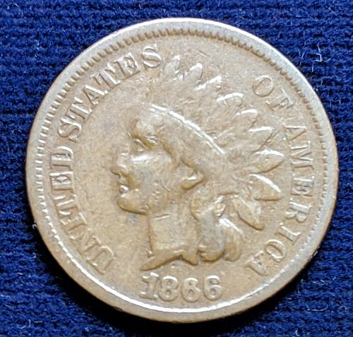 1866 GOOD INDIAN CENT