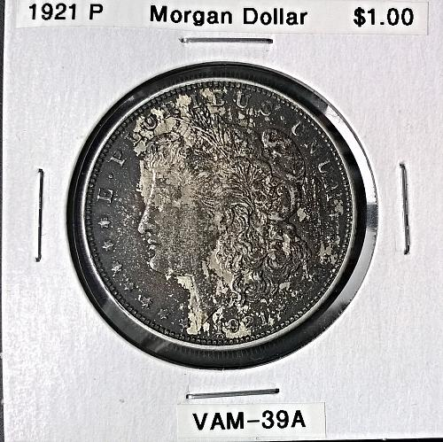 1921 P Morgan Dollar - VAM 39A - 6 Photos!