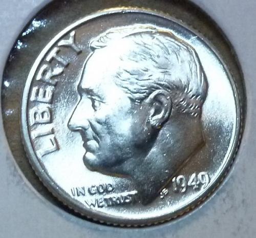 1949-D Gem Brilliant Uncirculated MS-65 Roosevelt Dime ( 134 )