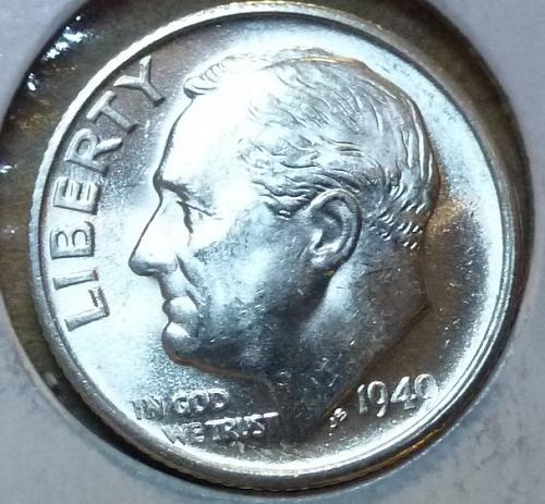1949-S Gem Brilliant Uncirculated MS-65 Roosevelt Dime ( 131 )