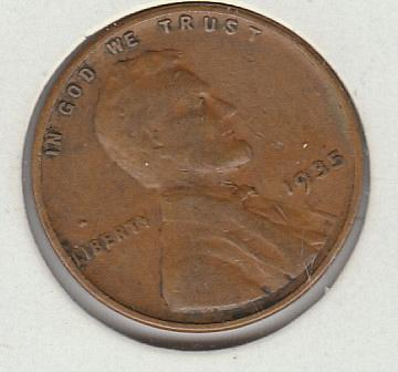 1935 P Lincoln Wheat Cent Small Cents -1