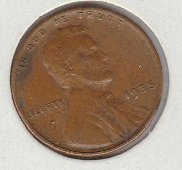 1935 P Lincoln Wheat Cent Small Cents -3