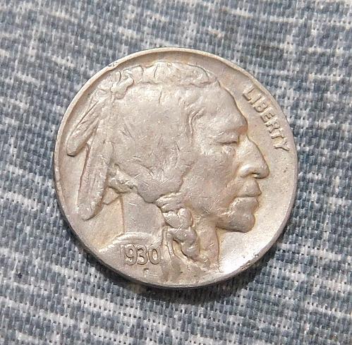 1930 P Buffalo/Indian Head Nickel