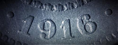 Belgium 1916/15 10 Centimes (overdate) #004