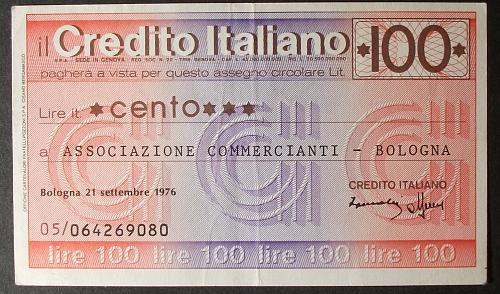 Italy/Bologna Local Issue 100 Lire VF