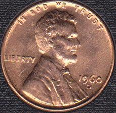 1960 D Lincoln Memorial Cent: Small Date