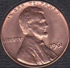 1961 P Lincoln Memorial Cent