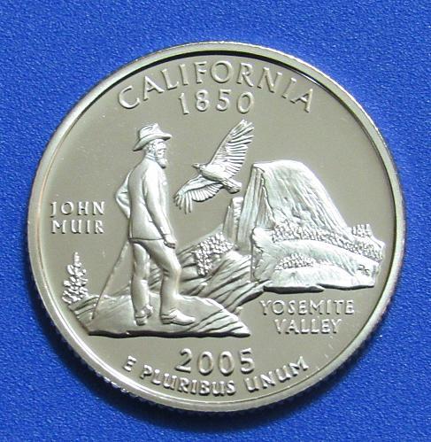 2005-S 25 Cents - California State Quarter