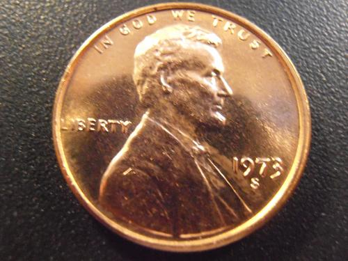 1973 S Lincoln Cent -  BU, Bright RED coin, FREE SHIPPING