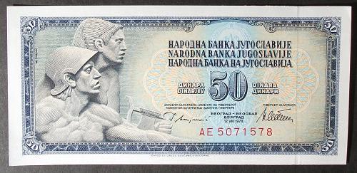 Yugoslavia P89a 50 Dinara UNC60
