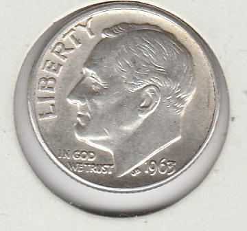 1963 D Roosevelt Dimes - #1