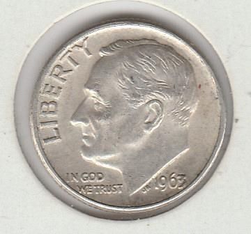 1963 D Roosevelt Dimes - #2