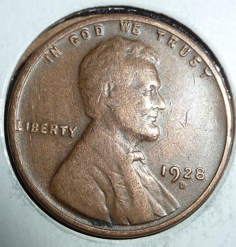 1928-D Very FINE Lincoln Wheat Cent ( # 936 )