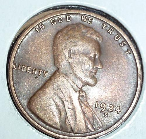 1924-S EXTRA FINE Lincoln Wheat Cent ( # 938 )