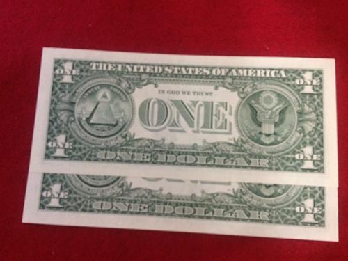 2- 2003A UNCIRCULATED $1.00 FRN