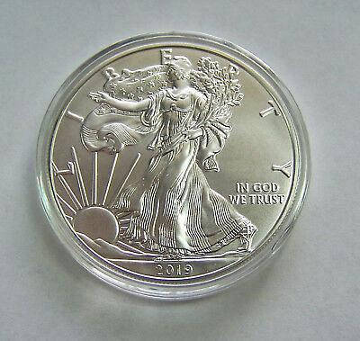 2019 American Silver Eagle. Shipped in Air-Tite Capsule as shown.