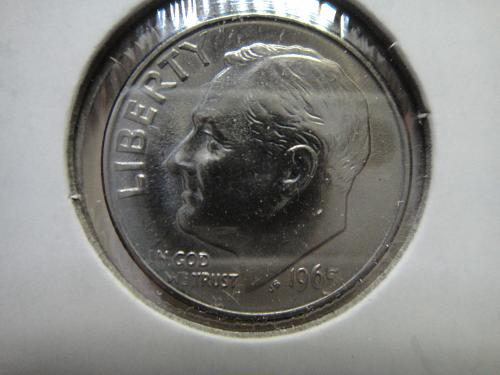 1965 Business Strike Roosevelt Dime MS-65 (GEM) Very Nice Strike For This Date!