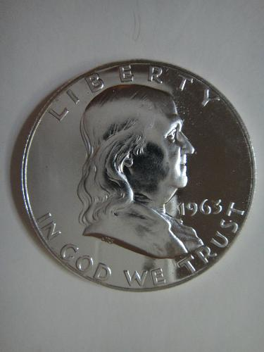1963 Proof Franklin Half Dollar Proof-65 (GEM)