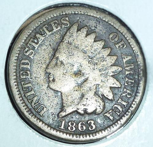 1863 Indian Cent You Grade  ( 37 )