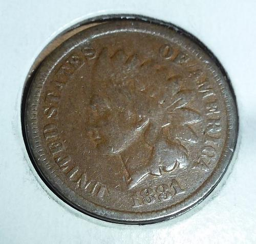 1881 Indian Cent You Grade  ( 35 )