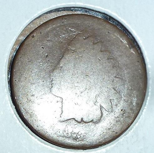 1873  Indian Cent AG Filler Coin  ( 41 )