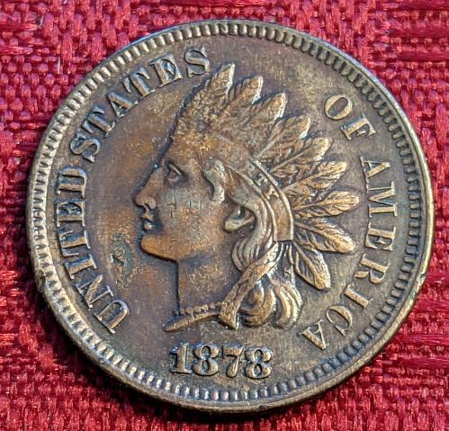 1878 AU INDIAN CENT