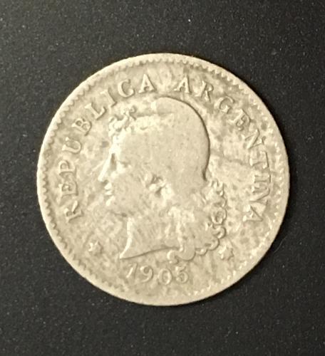 1905 Argentina 10 Centavos Coin - KM# 35