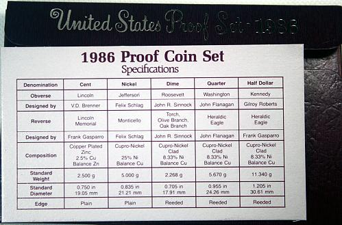 1986 S Proof Set